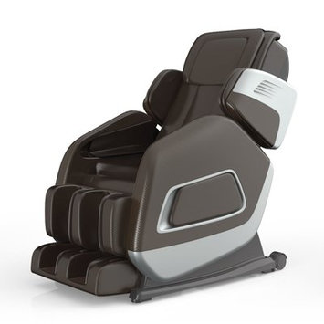 Symple Stuff Aria Massage Chair Upholstery: Brown