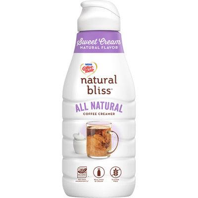 Nestle Coffeemate Natural Bliss Sweet Cream Flavor Liquid Coffee Creamer 46 fl oz Bottle