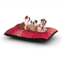 East Urban Home Ingrid Beddoes 'Delicate Leaves' Dog Pillow with Fleece Cozy Top Size: Large (50