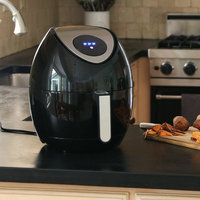 Ivation Multifunction Electric Air Fryer with Digital LED Touch Display Featuring 7 Cooking Presets Menu, Timer and Temperature Control - for Healthy Frying with Little to No Oil, 1400W - Black