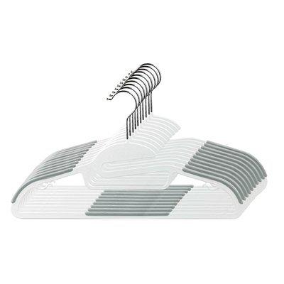 Rebrilliant Non-Slip Hanger Color: Gray/white