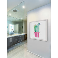 Marmont Hill Inc Marmont Hill - 'Potted Cactus' by Molly Rosner Framed Painting Print