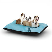 East Urban Home Graham Curran 'Turtle Tuba III' Dog Pillow with Fleece Cozy Top Size: Small (40