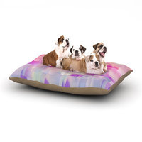 East Urban Home Gabriela Fuente 'Winter Flow' Dog Pillow with Fleece Cozy Top Size: Small (40