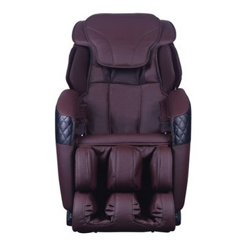 Symple Stuff Massage Chair Upholstery: Brown
