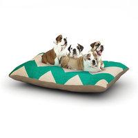 East Urban Home Catherine McDonald '2013' Chevron Dog Pillow with Fleece Cozy Top Size: Large (50