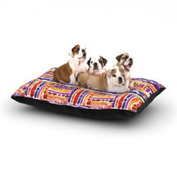 East Urban Home Louise Machado 'Tribal' Dog Pillow with Fleece Cozy Top Size: Large (50
