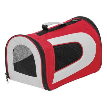 Iris Small Soft Pet Carrier Color: Red, Size: 10.63