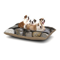 East Urban Home Susan Sanders 'Skipping Stone' Rocks Dog Pillow with Fleece Cozy Top Size: Small (40