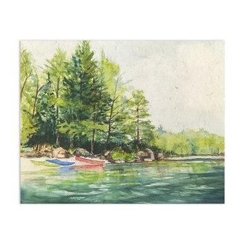 Loon Peak 'Kyack Launch' Watercolor Painting Print Size: 8