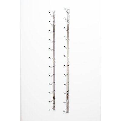 Vintageview Wall Series 18 Bottle Wall Mounted Wine Bottle Rack Finish: Chrome