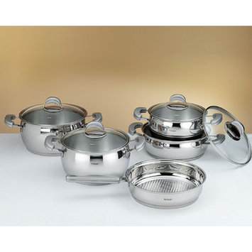Hisr Monaco 9 Piece Stainless Steel Cookware Set Color: Grey
