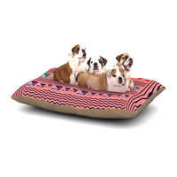 East Urban Home Famenxt 'Romantic Love' Abstract Dog Pillow with Fleece Cozy Top Size: Large (50