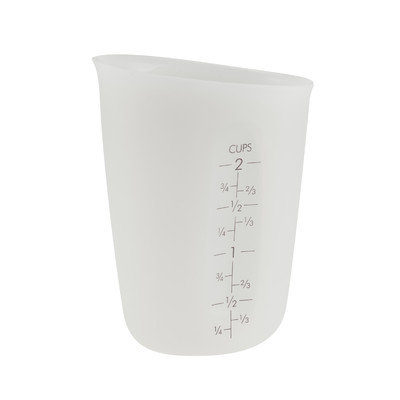 Flirty Aprons Flirty Kitchens Flexible Liquid Measuring Cup 2 Cup - WHITE