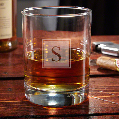 Home Wet Bar Eastham Personalized 10 oz. Rock Glass Monogram: Y