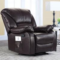 Alcott Hill Full Body Recliner Massage Chair Upholstery: Brown