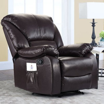 Alcott Hill Full Body Recliner Massage Chair Upholstery: Brown