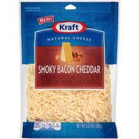 Kraft Shredded Smoky Bacon Cheddar Cheese 6.67 oz. Bag