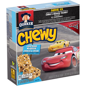 Quaker® Chewy Lightning Mcqueen Cookies & Cream Granola Bars