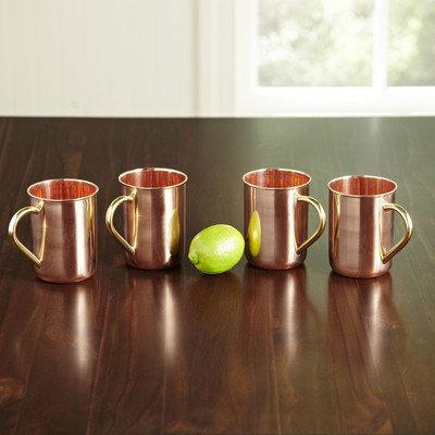 Birch Lane Polished Copper Moscow Mule Mugs