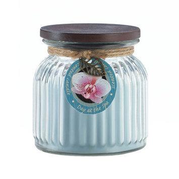 Koehlerhomedecor Day Spa Ribbed Jar Candle