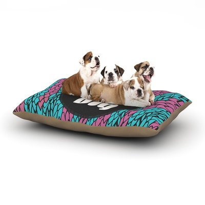 East Urban Home Pom Graphic Design 'Dream Big' Dog Pillow with Fleece Cozy Top Size: Large (50