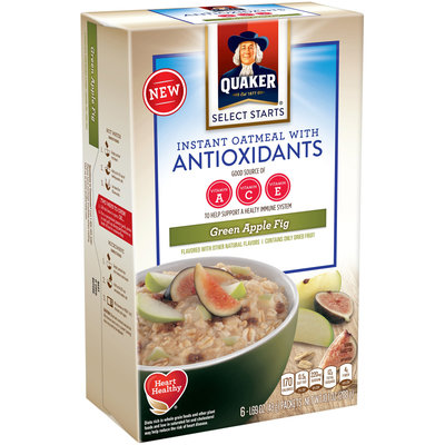Quaker® Select Starts Green Apple Fig Instant Oatmeal With Antioxidants
