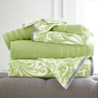 House Of Hampton Filigree Swirl 6 Piece Towel Set Color: Sage Green