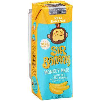 Sir Bananas® Monkey Mates™ Real Bananas Lowfat Milk 8 fl. oz. Aseptic Pack