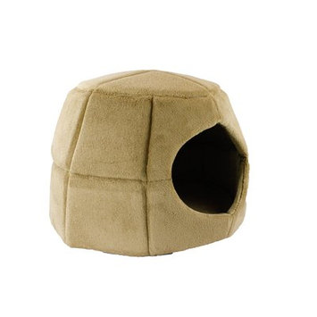 Precioustails 2 in 1 Honeycomb Hut Cuddler Hooded Color: Camel
