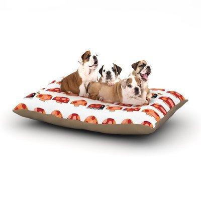 East Urban Home Jane Smith 'Garden Ladybugs' Dog Pillow with Fleece Cozy Top Size: Small (40