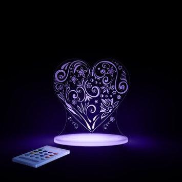 Lumenico Aloka Starlights LED Love Heart Night Light with Remote Control