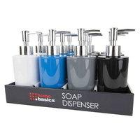 Home Basics Plastic Soap Dispenser Color: Gray