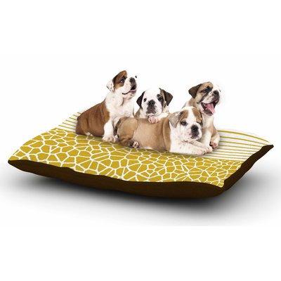 East Urban Home Trebam 'Staklo (Gold)' Digital Dog Pillow with Fleece Cozy Top
