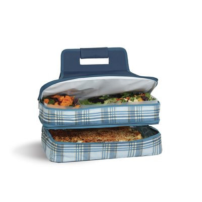 Freeport Park Arturo Plaid Entertainer Hot and Cold Specialty Food Storage