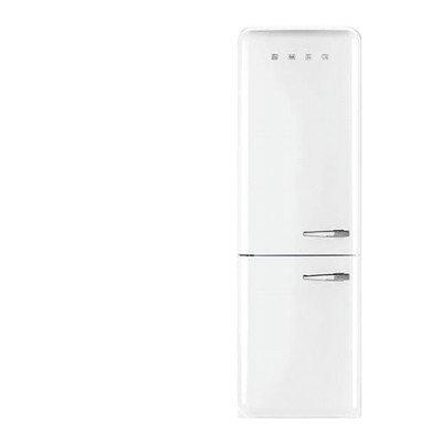 Smeg White 11.7 Cu. Ft. Retro Refrigerator with Bottom Freezer - Left Hinge