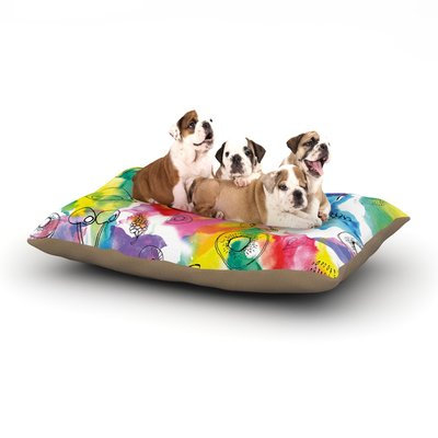 East Urban Home Danii Pollehn 'Fruits' Dog Pillow with Fleece Cozy Top Size: Small (40