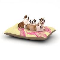 East Urban Home Roberlan 'Bardot' Girl Dog Pillow with Fleece Cozy Top Size: Large (50