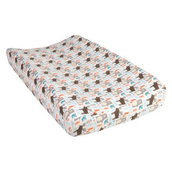 Test Trend Lab Scandi Forest Deluxe Flannel Changing Pad Cover, Multi-Colored