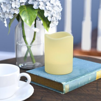 Three Posts LED Cream Scented Flameless Candle