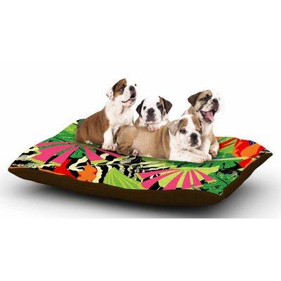 East Urban Home Jacqueline Milton 'Tropicana - Hot' Dog Pillow with Fleece Cozy Top