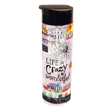 Latitude Run Courtyard Crazy Wonderful Infuser Acrylic 20 oz. Infuser Insulated Tumbler