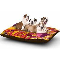 East Urban Home Alisa Drukman 'Birds in Garden 2' Abstract Dog Pillow with Fleece Cozy Top Size: Large (50