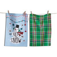 Tag Let It Snow Dishtowels Set Of 2