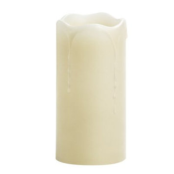 Winston Porter Melted Drip Unscented Flameless Candle Size: 6