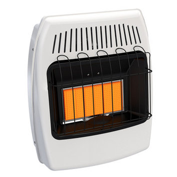Dyna-glo 18,000 BTU Wall Mounted Single Fuel Manual Vent-Free Heater