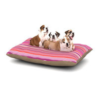 East Urban Home Nandita Singh 'Pink Ribbons' Dog Pillow with Fleece Cozy Top Size: Large (50