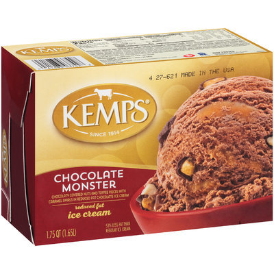 Kemps® Chocolate Monster Reduced Fat Ice Cream 1.75 qt. Carton
