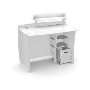 Harriet Bee Ellari Writing Desk with Accessory Shelves and File Cart