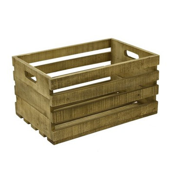 Gracie Oaks Record Storage Wood Crate